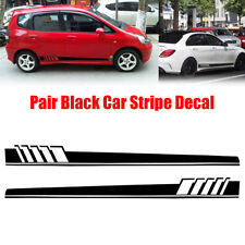 2Pcs Car Body Stripe Stickers Decals Side Skirt Vinyl Racing Car Long Stripe