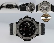 Hublot Big Bang 301.SX.130.RX 44mm Custom Bezel Black Rubber Chrono Men's Watch
