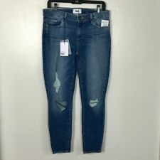 NWT PAIGE VERDUGO CROP IN WENSLEY DESTRUCTED DNM981 SIZE 28 SKINNY
