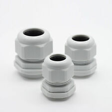100x PG13.5 White Waterproof Connector Gland Dia. 6~12mm Cable