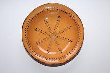 Plat époque 19 ème siècle en poterie céramique vernissée du Sud de la France