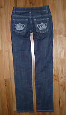 Rock & Republic R&R Embellished Floox dark wash low rise straight jeans Size 0