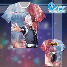Boku no Hero Academia My Hero todoroki shouto Anime Short Casual T shirt Tee