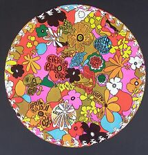 1968 Circular Shaped Kaleidoscope L.A. Concert Poster, Canned Heat