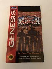 Super Street Fighter II 2 Sega Genesis Manual Only