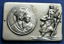 SAN CRISTOFORO SAINT CHRISTOPHER OUR LADY OF THE WAY PROTECT US CAR BADGE DRIVER