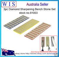 3/PK Diamond Sharpening Bench Stone Set ,Coarse/Fine/Extra Fine sharpening-81003