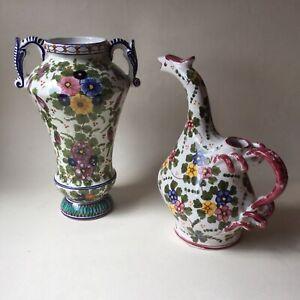 Vaso e brocca ceramica CASTELLI