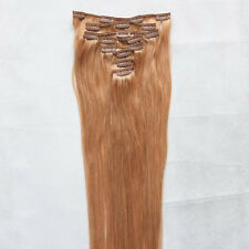 """CLIP IN VIRGIN REAL REMY HUMAN HAIR EXTENSIONS STRAIGHT 15""""20""""24""""26"""" 7P 8P 10P"""