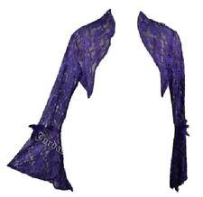 Jordash Purple Floral Stretch Lace Jacket Shrug Bolero Gothic Boho Freesize
