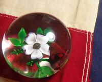 "Vintage 1983 Selkirk Glass Paperweight ""Wild Rose"" Peter Holmes 34/75!!!"