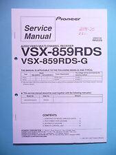 Service Manual-Anleitung für Pioneer VSX-859RDS,ORIGINAL