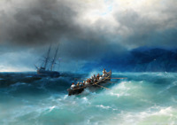 """stunning art oil painting 100% handpainted on canvas """"Storm over the Sea"""""""