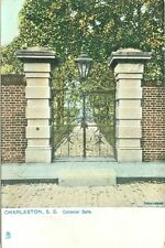 Charleston SC Old Colonial Gate of Judge Charles Simonton, a Tuck Post Card