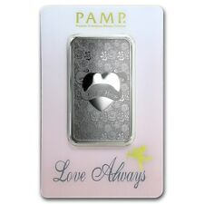 Lingot Suisse PAMP 1 Once argent pur 999 / LOVE ALWAYS 1 Ounce Fine Silver Bar