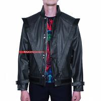 Michael Jackson Costume Thriller Leather Jacket - Black