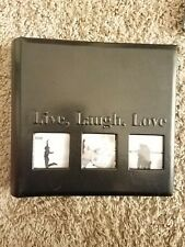leather picture album holds 200 pics 4x6 live, laugh, love