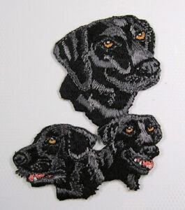 Black Labrador heat seal embroidered badge
