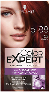 3 X Schwarzkopf Color Expert With Omega Plex 6-88 Red Light Brown Permanent