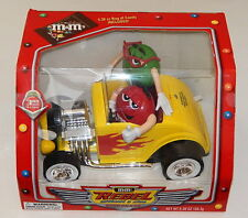 M&M's Rebel Without a Clue Dispenser New Unused Yellow Hot Rod R8897