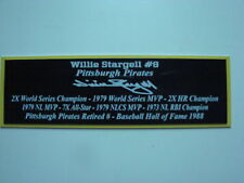 Willie Stargell Autograph Nameplate Pittsburgh Pirates Autograph Jersey Baseball