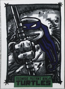 IDW LIMITED : TMNT Turtles Kevin Eastman Autograph Sketch Card - DONATELLO