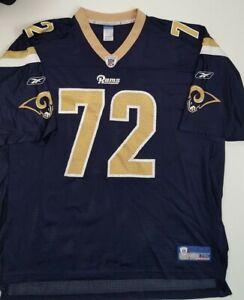 CHRIS LONG St. Louis RAMS NFL Football Reebok Jersey Blue Men's Size 2XL