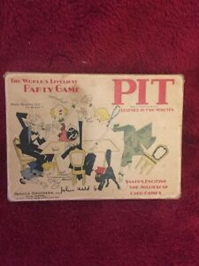 PIT vintage card game Parker Bros Bull and Bear edition.