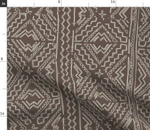 Mud Cloth Mudcloth African Mudcloth African Mud Spoonflower Fabric by the Yard