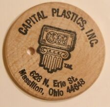 Vintage Capital Plastics Wooden Nickel Massillon Ohio