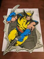 "Marvel Wolverine Metal Tin Collectible Sign/Wall Plaque 10"" x 13.5"" X-Men"