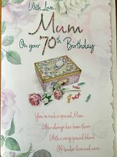 70th Birthday Card For Mum - Loving Words