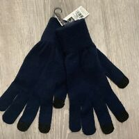 Charlie Paige Womens Gloves One Size Navy Blue Knit Fashion Accessory New O12