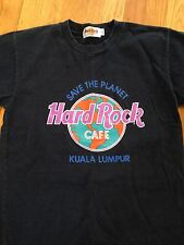 HARD ROCK CAFE Kuala Lumpur Save the Planet Authentic T Shirt Youth M Blue