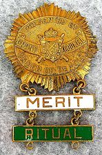 Grand Council Order of DeMolay Award Medal for Merit & Ritual High Relief Cast