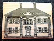 "Vintage Rubber Stamp ""Stately Plantation Home"" by Stamp Cabana 3 x 4"""
