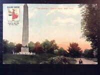 Vintage Postcard>1912>Obelisk>Central Park>Gillie's Coffee Advertising>New York