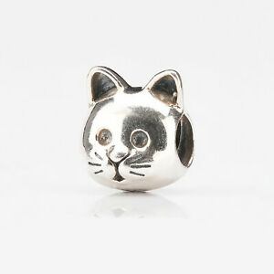 NEW Genuine Pandora Sterling Silver Curious Cat Bead 791706
