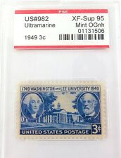 .US STAMP #982 1949 3c ULTRMARINE PSE GRADED XF-SUP 95 MINT OGnh