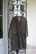 Cambrian 1970s Vintage ReTRO Long MOD Suede Coat,Jacket,Overcoat Size 12-14
