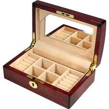 Laminated Makah Burl Jewellery Box with Mirror