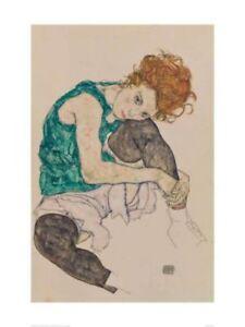 The Artist's Wife - Egon Schiele - Fine Art Giclee Print (Various Sizes)