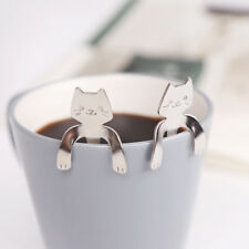 Creative Cat Spoon Stainless Steel Silver Tea Coffee Ice Cream Cutlery Tableware