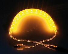 LED Stripe 60 SMD LED ad alta flessibile 100cm autoadesivo ip44 GIALLO SILICONE Cappotto