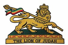 ETHIOPIA THE LION OF JUDAH Embroidered Iron-On PATCH CREST BADGE..XX-LARGE