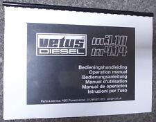 Vetus Diesel engine owners manual handbook - M3.10 M4.14