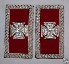 Masonic Templar Master Lodge Boards Officer Bullion Straps Maltese Cross Knights