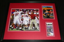 2008 SEC Championship Alabama Framed Photo & Repro Ticket & Program Cover Set