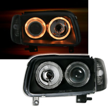 NEW ANGEL EYES HEADLIGHTS LAMPS LHD RHD for VW POLO 6N2 99-01 BLACK