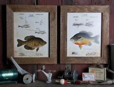 Fishing Lure Patent Art Prints (Set of 2) 8x10 Unframed Bluegill Crappie SET03